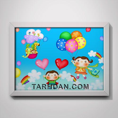 دانلود طرح لایه باز پوستر انیمیشن کودکانه
