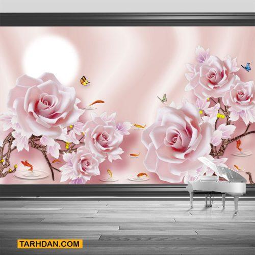 دانلود پوستر سه بعدی عکس گلهای رز