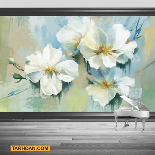 دانلود عکس پوستر سه بعدی گلها
