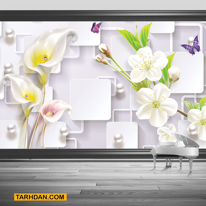 دانلود پوستر سه بعدی گلهای گلایول