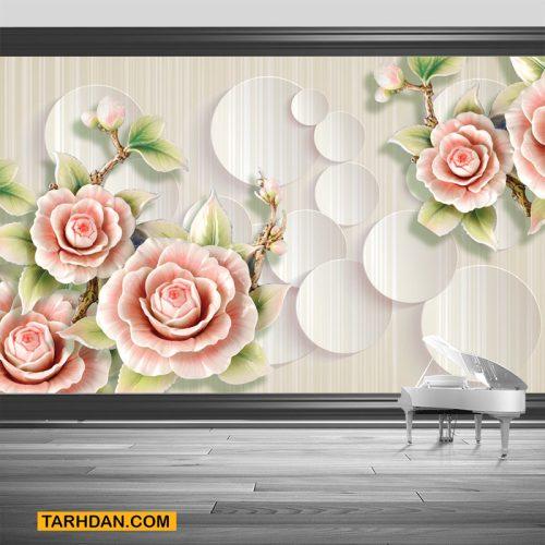 دانلود کاغذ دیواری لایه باز گلهای رز