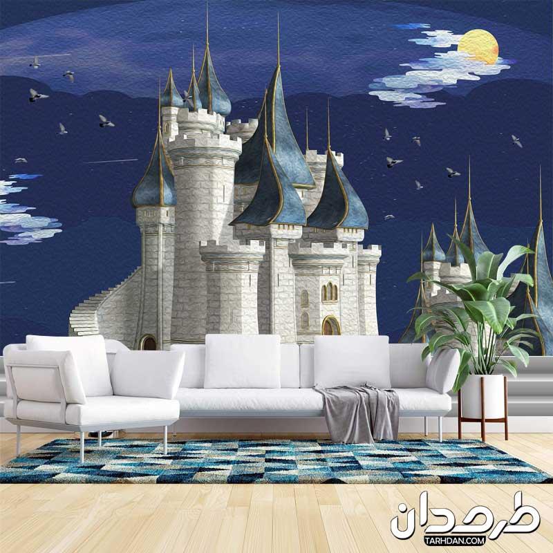 دانلود پوستر سه بعدی طرح قصر در شب
